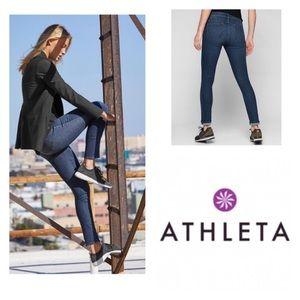 Athleta Dark Wash Skinny Sculptek Roll Up Jeans